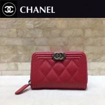 Chanel-80602-02 原版皮 進口羊皮 錢包 卡包