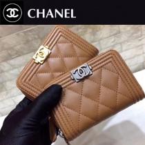 Chanel-80602-03 原版皮 進口羊皮 錢包 卡包