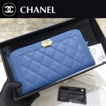 Chanel-80288-01 原版皮 新色 原單進口球紋 拉鏈錢夾 專櫃同步上市