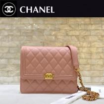 Chanel-84433-02 原版皮 經典球紋菱格紋 小巧精美的鏈條包 迷妳風琴設計