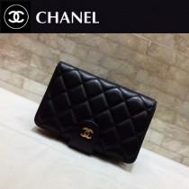 Chanel-48667-05 香奈兒進口羊皮短折錢夾
