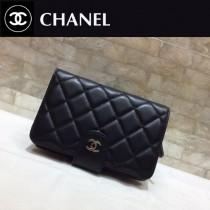 Chanel-48667-06 香奈兒進口羊皮短折錢夾