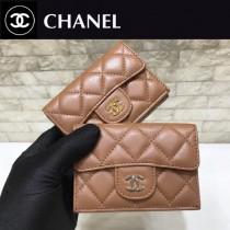 Chanel-84401-03 原版皮 進口 羊皮 迷妳短三折錢夾