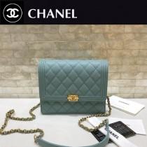 Chanel-84433 原版皮 經典球紋菱格紋 小巧精美的鏈條包 迷妳風琴設計