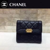 Chanel-80734-07 香奈兒進口拼色球紋皮短三折錢夾 拼色錢包