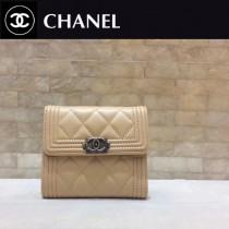 CHANEL-80734-015 香奈兒進口羊皮三折短錢 夾包