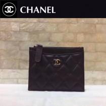 CHANEL-84105-02 香奈兒進口羊皮拉鏈零錢包 卡包
