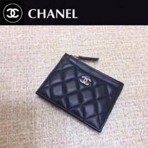 CHANEL-84105-01 香奈兒進口羊皮拉鏈零錢包 卡包