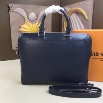 LV-M51689-01 路易威登新款原版皮黑色OLIVER BRIEFCASE公文包