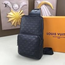 LV-N41719-02 路易威登新款原版皮Avenue压格胸包