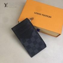 LV-M64038 路易威登新款原版皮黑格零錢卡片包