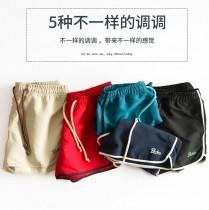 2018夏装女士彩色沙滩裤速干短裤出游装