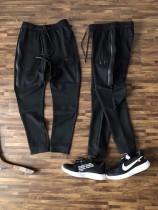 秋季卫裤 嗨外柜子同步!男士小直筒刺绣黑标长裤