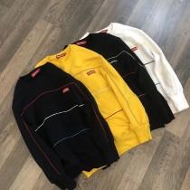 卫衣. Sup 小标彩虹条圆领套头卫衣 四色入 经典BOX 小红标 彩虹系条纹 贯穿全身的线条 完美
