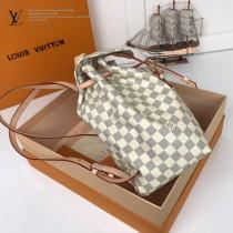 LV-N41578  路易威登新款原版皮走秀系列白格双肩包 书包
