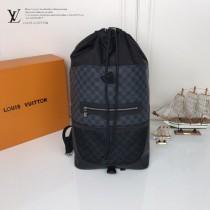 LV-N40009 路易威登新款原版皮走秀系列男士雙肩包書包