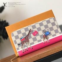 LV-N60058  路易威登新款原版皮絲印長頸鹿系列拉鏈錢包