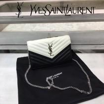 YSL新款原版皮377828黑白專櫃最新配色 采用頂級牛皮魚子醬-03