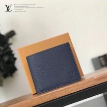 LV-M60053  路易威登專櫃同步原版皮系列藍色水波紋短夾