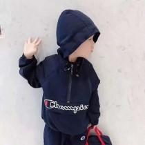 潮客 儿童2018ss潮流半拉链冲锋衣夹克 搭配袖口下摆休闲收口设计 双层布料 脱离单薄的普通冲锋夹克