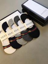GUCCI(古奇)蜜蜂隱形襪、高品質  5雙壹盒、純棉質量