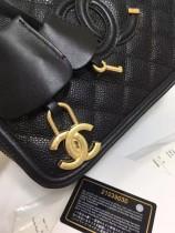 Chanel 小香魚子醬原版皮化妝包/相機包