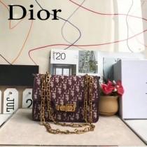 Dior-015-01   迪奧新款原版皮老花系列帆布斜挎包