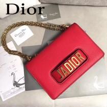 Dior-014-03   迪奧新款原版皮荔枝紋鏈條包