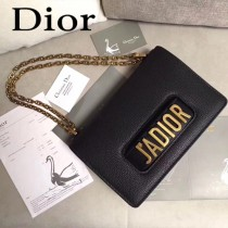 Dior-014-04   迪奧新款原版皮荔枝紋鏈條包