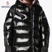 Moncler蒙口-14   秋冬黑色 大紅 蒙口斜拉鏈款袁姍姍同款 頂級90絨