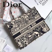 Dior-019-04   迪奧新款原版皮帆布刺繡手提包