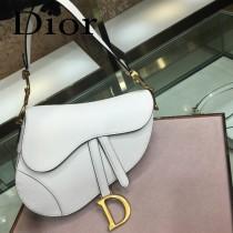 Dior-022   迪奧新款原版皮Saddle粒面小牛皮手提包 馬鞍包