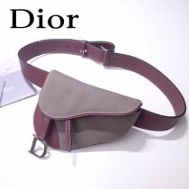 Dior-033   迪奧新款原版皮復古馬鞍包 腰包