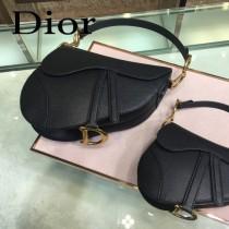 Dior-022-01   迪奧新款原版皮Saddle粒面小牛皮手提包 馬鞍包