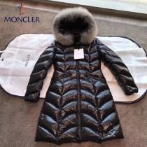 Moncler蒙口-40 秋冬 羽皇Albizia系列 頂級芬蘭狐貍毛領設計 女士長款連帽羽絨服保暖外套