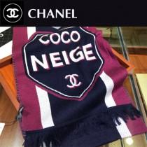chanel圍巾-0-07-01    香奈兒撞色logo圍巾