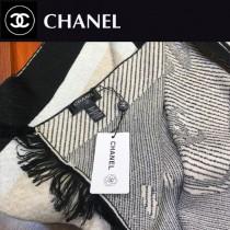 chanel圍巾-0-07      香奈兒撞色logo圍巾