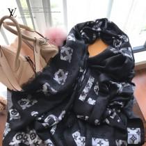 LV圍巾-042    路易威登新款頂級進口純羊絨圍巾