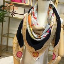 Hermes圍巾-018-01    愛馬仕新款斜紋面料絲羊絨方巾