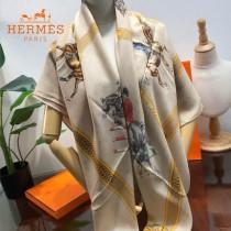 Hermes圍巾-017    愛馬仕新款高端重磅人字紋絲羊絨方巾
