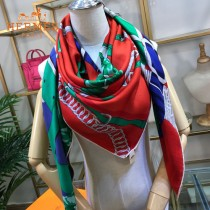 Hermes圍巾-016-01    愛馬仕新款高端重磅人字紋絲羊絨方巾