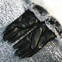 UGG 冬季新款加厚防寒保暖皮革手套