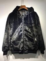 MMJMasterind JAPAN MMJ 18 ss秋冬新款 暗黑巨大骷髏加厚帽衫外套
