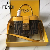 FENDI芬迪  原版皮   大F字母便當包-03