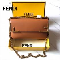 FENDI芬迪  原版皮  大號新款  雙F系列斜背包