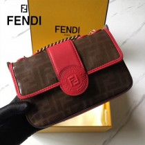 FENDI芬迪  原版皮   新款到貨 雙F系列斜背包-02