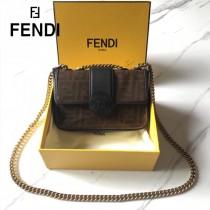 FENDI芬迪  原版皮   新款到貨 雙F系列斜背包-01