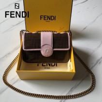 FENDI芬迪  原版皮   新款到貨 雙F系列斜背包-03