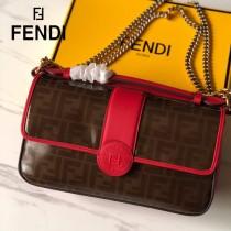 FENDI芬迪  原版皮  大號新款  雙F系列斜背包-02