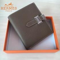 HERMES包包-07-010   愛馬仕H扣短夾錢包